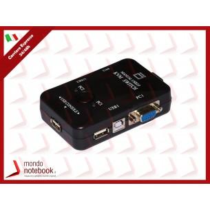 KVM SWITCH LINK PER 2 PC USB/VGA CON 1 MOUSE, 1 TASTIERA USB E 1 MONITOR VGA CON CAVI...