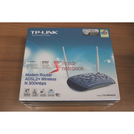 ROUTER TP-LINK TD-W8960N ADSL2+ 300M 802.11n/g/b ACCESS POINT 4P 2 ANTENNE STACCABILI