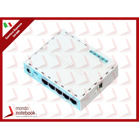 ROUTERBOARD MIKROTIK RB750Gr3 hEX with Dual Core 880MHz MHz CPU,256MB RAM,5Gigabit LAN...