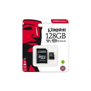 Micro SD Kingston 128 GB con adattatore CLASSE 10 80MB/S