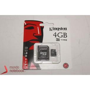 Micro SD Kingston 4 GB con adattatore CLASSE 4