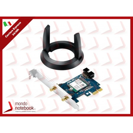 SCHEDA WIRELESS ASUS PCE-AC55BT PCI-Express  AC1200 Dual Band Bluetooth 4.0 e BLE