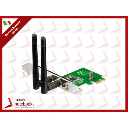 SCHEDA WIRELESS ASUS PCE-N15 PCI-Express 300M 802.11n, 2 antenne staccabili