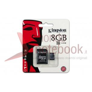 Micro SD Kingston 8 GB con adattatore CLASSE 4