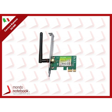 SCHEDA WIRELESS TP-LINK TL-WN781ND PCI EXPRESS 150M Atheros, 1T1R, 2.4GHz 802.11n/g/b,...