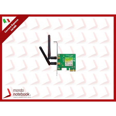 SCHEDA WIRELESS TP-LINK TL-WN881ND PCI EXPRESS 300M  Atheros, 2T3R, 2.4GHz 802.11n/g/b,...