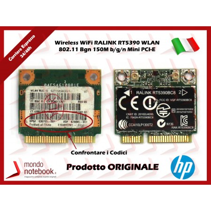 Scheda Wireless WiFi RALINK RT5390 WLAN 802.11 Bgn 150M b/g/n Mini PCI-E