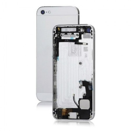 Scocca cover iPhone 5 completa di tasti - Complete back cover with parts - Bianco