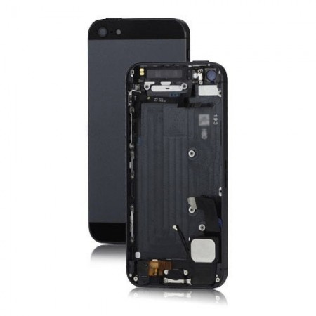 Scocca cover iPhone 5 completa di tasti - Complete back cover with parts - Nero