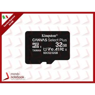 SD-MICRO KINGSTON  32GB CLASS 10 UHS-I 80MB/s + ADATTATORE Canvas Select Plus - SDCS2/32GB