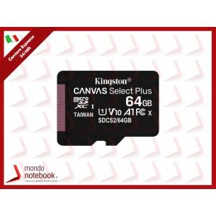 SD-MICRO KINGSTON  64GB CLASS 10 UHS-I 80MB/s + ADATTATORE Canvas Select Plus - SDCS2/64GB