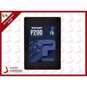 """SSD PATRIOT P200 2.5"""" 2TB SATA3 READ:530MB/WRITE:460 MB/S - P200S2TB25 - GAR. 3 ANNI"""