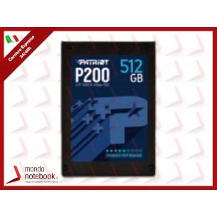 """SSD PATRIOT P200 2.5"""" 512GB SATA3 READ:530MB/WRITE:460 MB/S - P200S512G25 - GAR. 3 ANNI"""