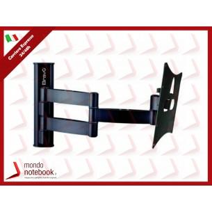 """SUPPORTO TV BRAVO DA """"LCD10"""" 23""""-40"""", MAX Kg 20, ATTACCO MAX 20x20cm ORIENTABILE -10°/+15°"""