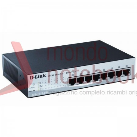 Switch D-LINK 10/100 8P DES-1210-08P Desktop SmartManaged PoE