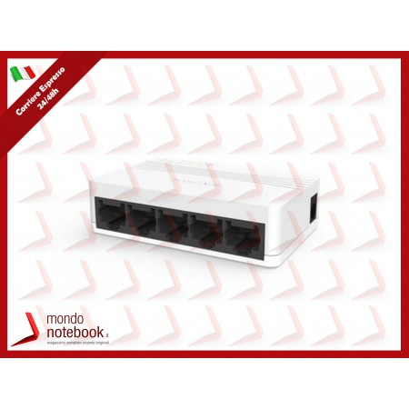 SWITCH HIKVISION 5 porte 10/100M UNMANAGED banda 1Gbps, controllo di flusso IEEE 802.3,...