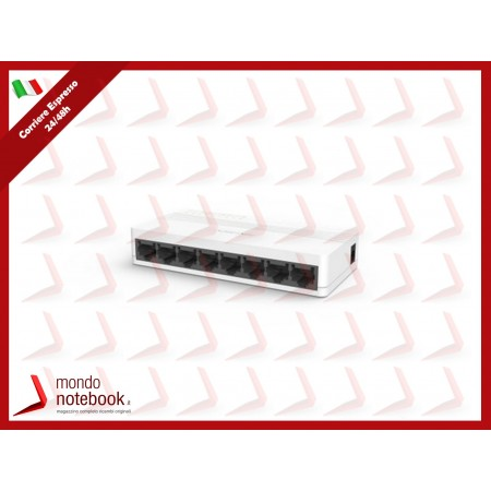 SWITCH HIKVISION 8 porte 10/100M UNMANAGED banda 1.6 Gbps, controllo di flusso IEEE...