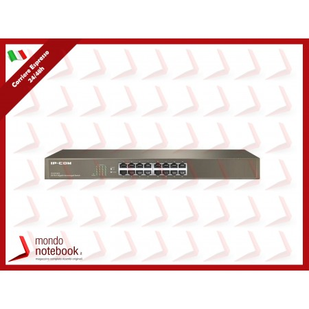 SWITCH IP-COM G1016G 16P GIGABIT UNMANAGED 1U,19-inch Rack-mountable