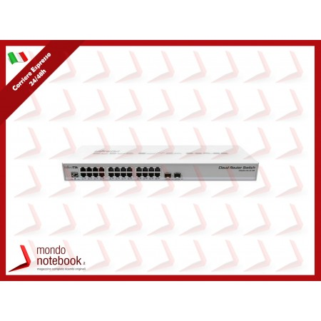 SWITCH MIKROTIK CloudRouter CRS326-24G-2S+RM with 800MHz CPU,512MB RAM, 24xGigabit...