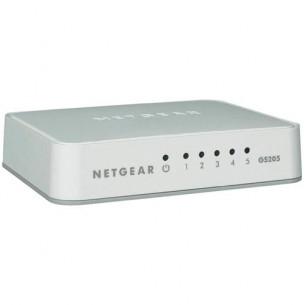 SWITCH NETGEAR GS205-100PES 5P LAN 10/100/1000M GIGABIT UNMANAGED DESKTOP Platinum case