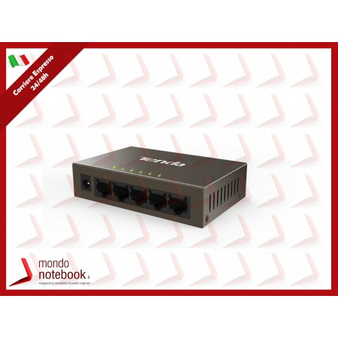 SWITCH TENDA TEF1005D 5P LAN DESKTOP 10/100M RJ45 CASE METALLICO