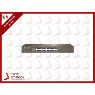 SWITCH TENDA TEF1016D 16P LAN DESKTOP 10/100M RJ45 CASE METALLICO RACKMOUNTABLE