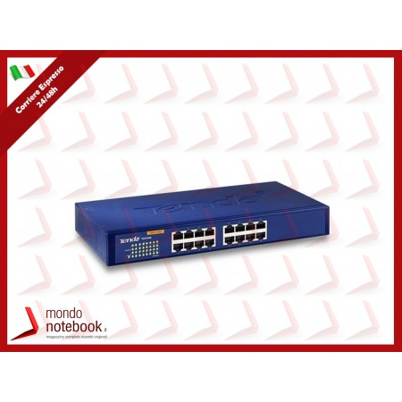 SWITCH TENDA TEG1016D 16P LAN GIGABIT DESKTOP 10/100/1000Mbps RJ45 13inch CASE...