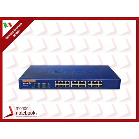 SWITCH TENDA TEG1024G 24P GIGABIT 10/100/1000 RJ45 UNAMANAGED RACK