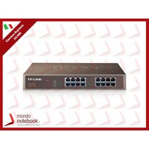 SWITCH TP-LINK TL-SG1016D 16P LAN GIGABIT DESKTOP/RACKMOUNT 10/100/1000Mbps RJ45 CASE...