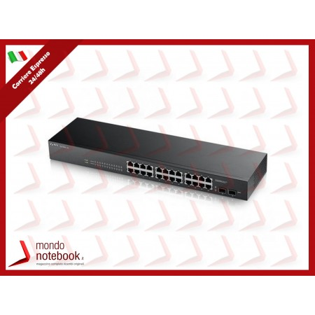SWITCH ZYXEL GS-1900-24 24P LAN GIGABIT+ 2 porte SFP Gigabit, Supporto IPv6, VLAN -...