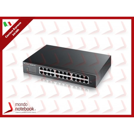 SWITCH ZYXEL GS-1900-24E 24P LAN GIGABIT, Supporto IPv6, VLAN - Design senza ventole,...