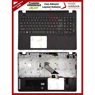 Tastiera con Top Case ACER Extensa 2519 Aspire ES1-531 con ADESIVI LAYOUT ITA