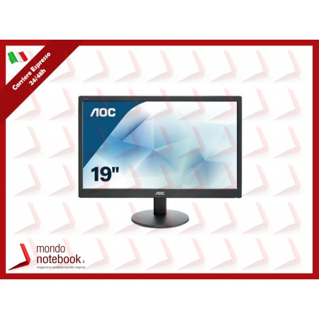 "MONITOR AOC LED 18.5"" Wide E970Swn 0,3 1366x768 5ms 200cd/mq 700:1(20.000.000:1) VESA..."