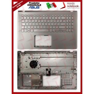 Tastiera con Top Case ASUS X509JA X509JB X509JP (Silver) Layout Italiano