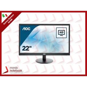 "MONITOR AOC LED 21.5"" Wide E2270SWDN 0,248 1920x1080 5ms 200cd/mq 600:1(20.000.000:1)..."