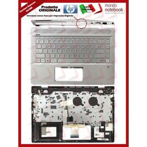 Tastiera con Top Case HP 14-CE (Silver) Layout Italiano Senza Finger Print