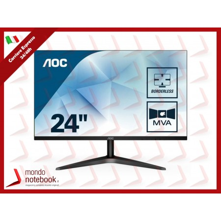 MONITOR AOC LED 23.6'' Wide 24B1H 0,275 1920x1080 5ms 250cd/mq 1.000:1 (20.000.000:1)...