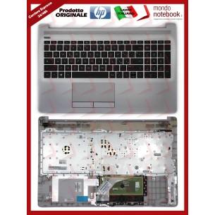Tastiera con Top Case HP 250 G7 255 G7 15-DA 15-DB 15-DR Italiana (Silver)