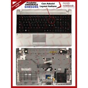 Tastiera con Top Case SAMSUNG RV511 (Grigia) Con Adesivi Layout Italiano