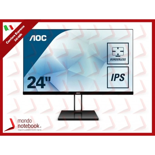 MONITOR AOC LED 23.8'' Wide 24V2Q IPS 0,2745 1920x1080 4ms 250cd/mq...