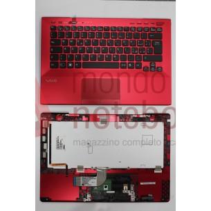 Tastiera con Top Case SONY VPC-SD (ROSSO) RETROILLUMINATA