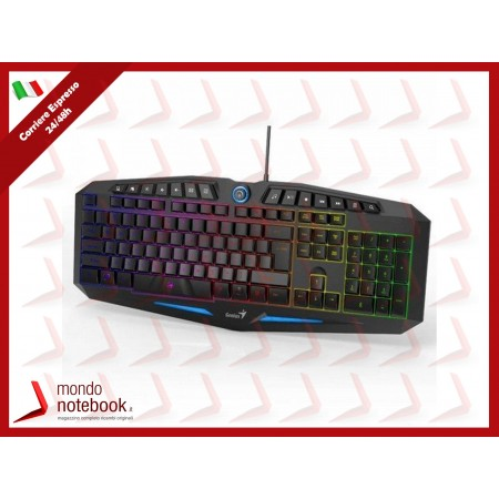 "TASTIERA GENIUS GAMING ""SCORPION K9"" USB RETROILLUMINATA MULTICOLOR(7) 14 TASTI..."