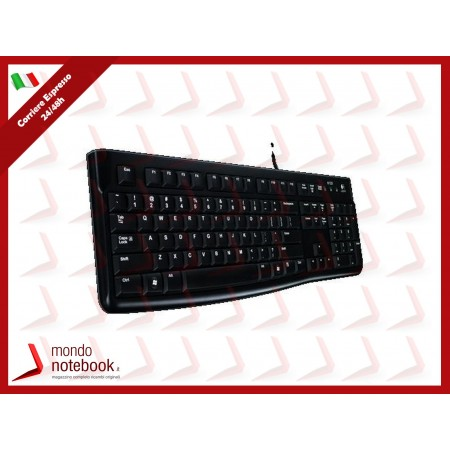 "TASTIERA LOGITECH ""K120 Keyboard Black"" For Business USB oem"