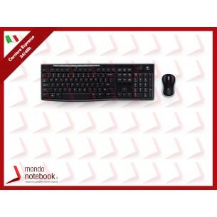 """TASTIERA LOGITECH+MOUSE """"Wireless Desktop"""" MK270 NERA USB (COMBO) - 920-004512"""
