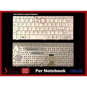 Tastiera Netbook ASUS EeePC 1005HA 1008HA 1001HA series (BIANCA) con ADESIVI LAYOUT ITA