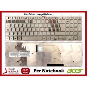 Tastiera Notebook ACER Aspire 5943G 8943G 8950G (SILVER) con Adesivi Layout ITALIANO