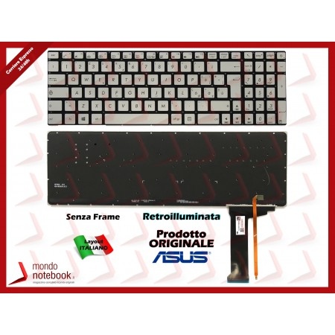 Tastiera Notebook ASUS N551 N552 N751 N751J N752V G551 GL551 GL552 (Silver)...