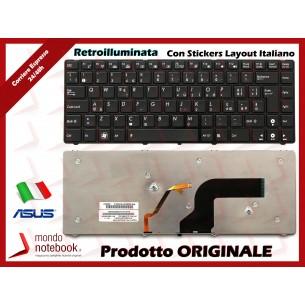 Tastiera Notebook ASUS U80 U80A UL80V VX5 (RETROILLUMINATA)(NERA) con ADESIVI LAYOUT ITA