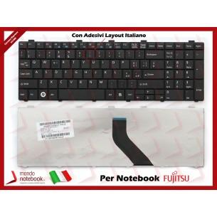 Tastiera Notebook Fujitsu Lifebook AH521 AH530 A530 NH751 con ADESIVI in ITALIANO