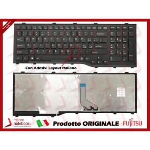 Tastiera Notebook Fujitsu Lifebook AH532 A532 N532 NH532 con ADESIVI in ITALIANO